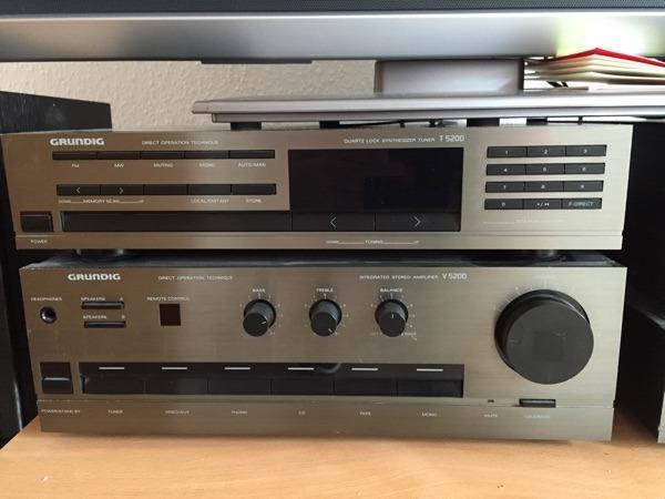 hochwertige stereoanlage grundig t5200 hifi klassiker in. Black Bedroom Furniture Sets. Home Design Ideas