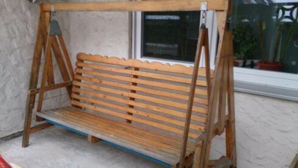 Gartenmobel Gartenregal Eisen : Schöne selbst gebaute Hollywoodschaukel aus Holz zu verkaufen Ist