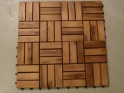Holz Bodenplatten 16
