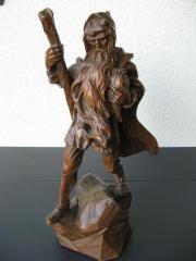 Holzfigur, Holzschnitzerei, Rübezahl