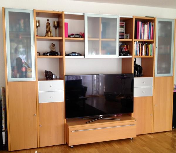 h lsta wohnwand zu verkaufen in leonberg wohnzimmerschr nke anbauw nde kaufen und verkaufen. Black Bedroom Furniture Sets. Home Design Ideas