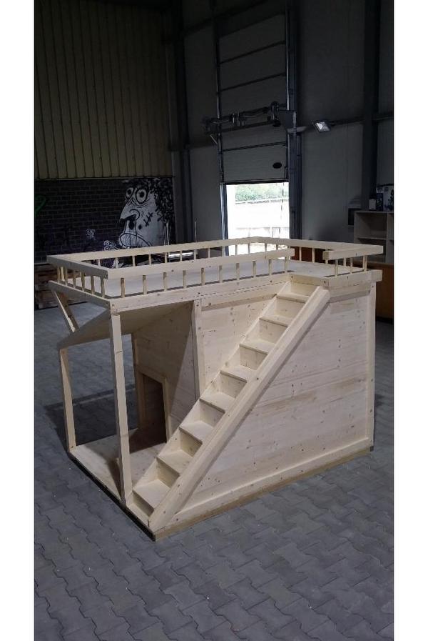 hundeh tte deluxe xxl mit sonnenterasse in niederkr chten zubeh r f r haustiere kaufen und. Black Bedroom Furniture Sets. Home Design Ideas