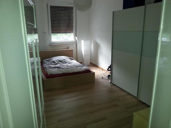 ikea bett malm 140 x 200 mit lattenrost und matratze in. Black Bedroom Furniture Sets. Home Design Ideas