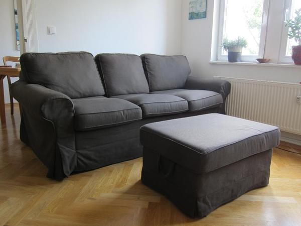 ikea ektorp 3er bettsofa schlafcouch in braun in bamberg. Black Bedroom Furniture Sets. Home Design Ideas