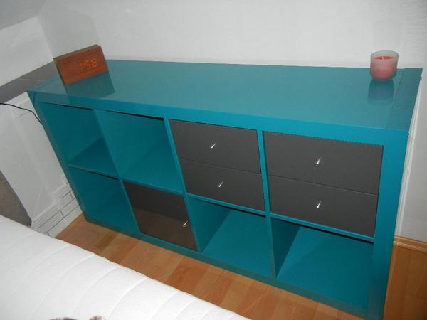ikea expedit regal t rkis hochglanz in n rnberg ikea m bel kaufen und verkaufen ber private. Black Bedroom Furniture Sets. Home Design Ideas