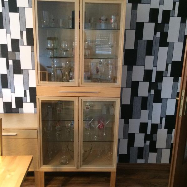 Ikea Groland Island Butcher Block ~ ikea glasvitrine mit massivholz eiche 53797 lohmar glasvitrine ikea