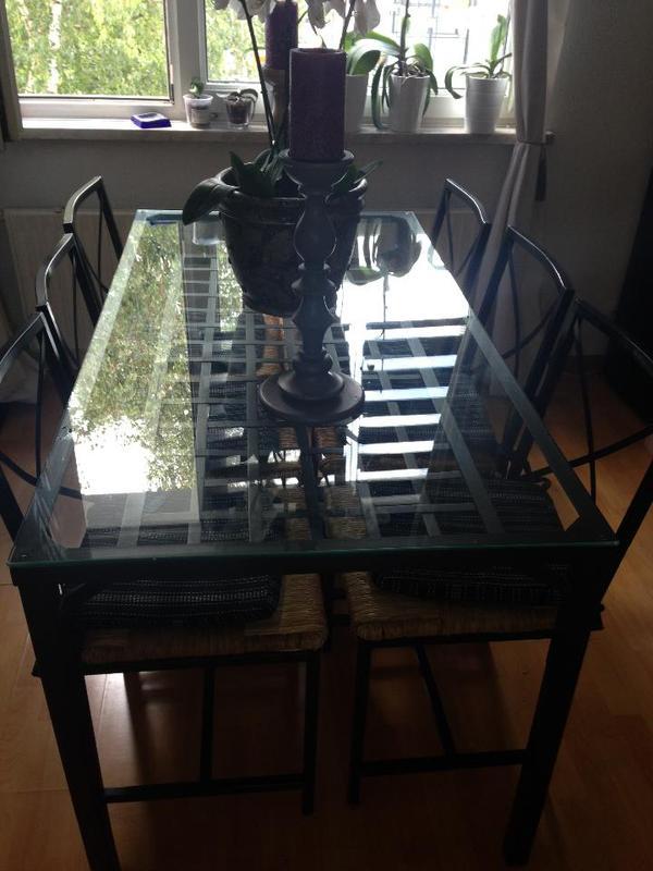 ikea granas esstisch 6 st hle in frankfurt ikea m bel. Black Bedroom Furniture Sets. Home Design Ideas