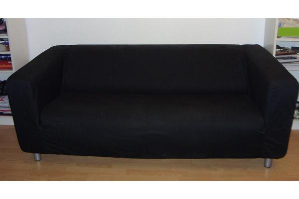 ikea klippan 2er sofa inklusive bezug schwarz in marburg ikea m bel kaufen und verkaufen. Black Bedroom Furniture Sets. Home Design Ideas