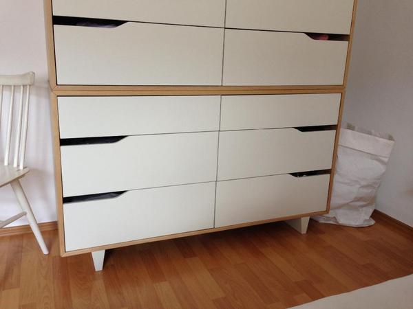 ikea mandal kommode mit 6 schubladen birke wei in stuttgart ikea m bel kaufen und verkaufen. Black Bedroom Furniture Sets. Home Design Ideas