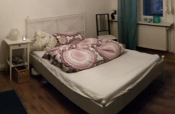 ikea bett wei metall kaufen gebraucht und g nstig. Black Bedroom Furniture Sets. Home Design Ideas