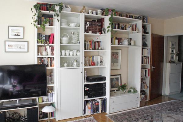 wohnzimmerschränke weiß:interlübke Anbauwand weiß, 310 cm in München – Wohnzimmerschränke