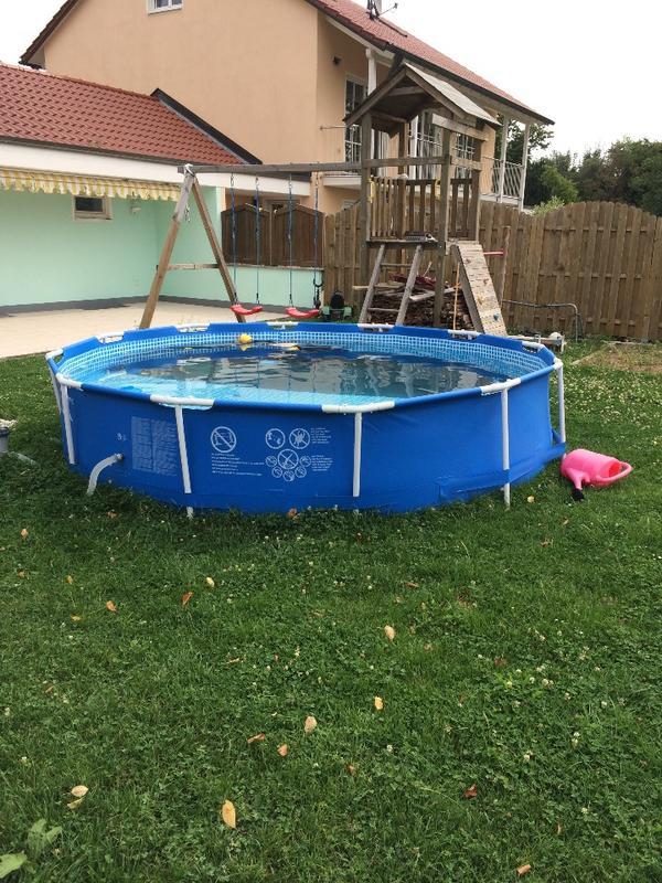 Kleinanzeigen intex swimming pool metal frame 366x76cm for Garten pool pumpe