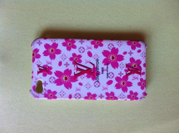 bild 4 iphone 4 4s louis vuitton lv h lle case pink mit blumen rosa cover schale mannheim. Black Bedroom Furniture Sets. Home Design Ideas