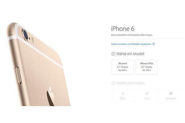 iphone 6 und 6 plus 16 64 128 gb silber gold schwarz in. Black Bedroom Furniture Sets. Home Design Ideas