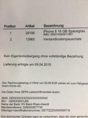 iPhone6 in spacegrau ,