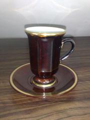 Kaffeetasse wei mit unterteller aufdruck herz for Wmf offenbach