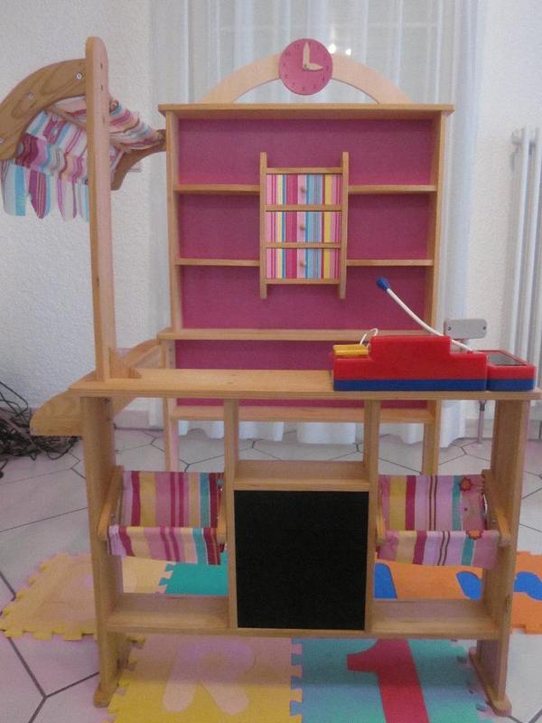 kaufladen howa 4748 aus holz mit markise und kasse in durmersheim holzspielzeug kaufen und. Black Bedroom Furniture Sets. Home Design Ideas