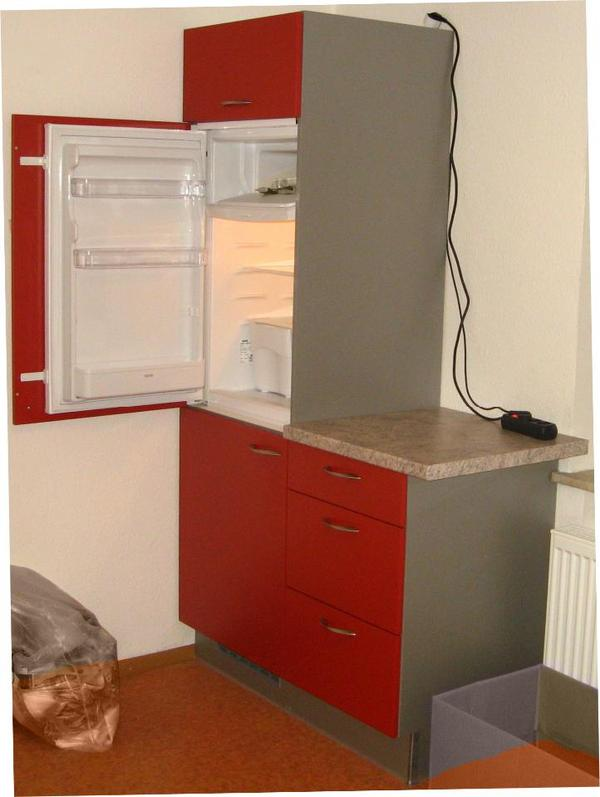 komplette k che k chenzeile mit k hlschrank und herd. Black Bedroom Furniture Sets. Home Design Ideas