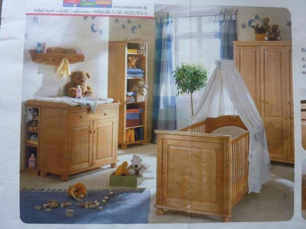 komplettes kinderzimmer fichte massiv antik gebeizt in. Black Bedroom Furniture Sets. Home Design Ideas