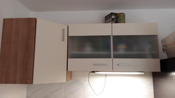 singlek che wei 1m breit mit zwei herdplatten und sp le dazu ein h ngeschrank 0 98m. Black Bedroom Furniture Sets. Home Design Ideas