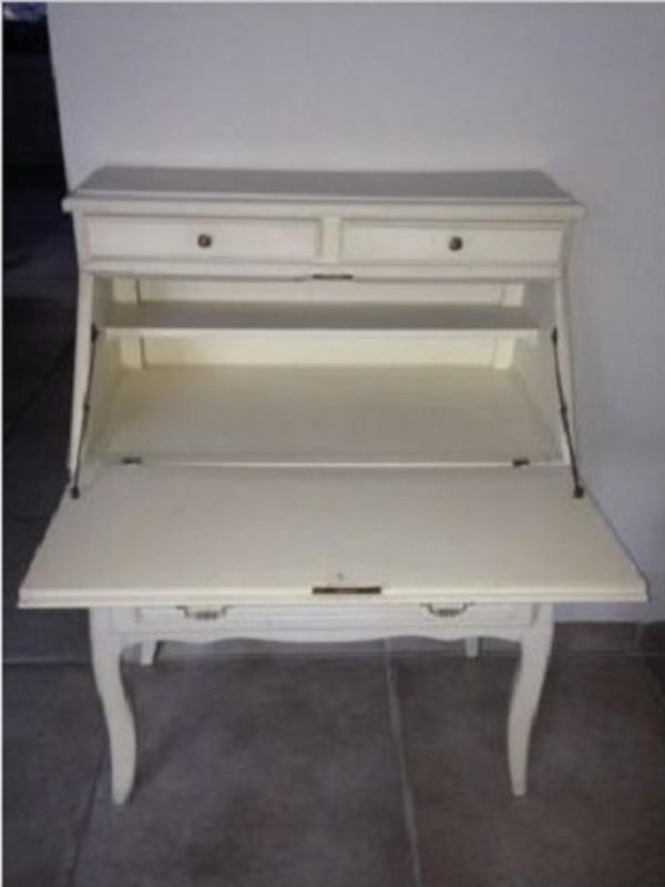 landhaus sekret r holz creme wei 4 schubladen 113x80x73. Black Bedroom Furniture Sets. Home Design Ideas