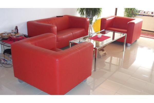 leder couch rot in frankenthal kaufen und verkaufen ber. Black Bedroom Furniture Sets. Home Design Ideas