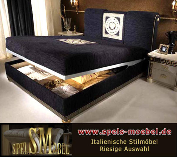 luxus m bel bett doppelbett 160x200 schlafzimmer royale moonlight italienische klassische. Black Bedroom Furniture Sets. Home Design Ideas