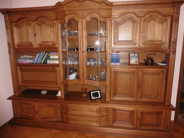 massiver wohnzimmerschrank nussbaum in rastatt. Black Bedroom Furniture Sets. Home Design Ideas