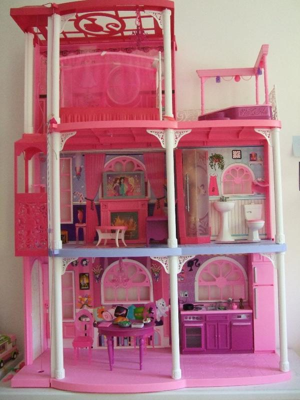 mattel barbie haus traumvilla. Black Bedroom Furniture Sets. Home Design Ideas