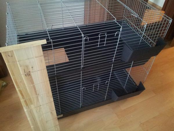 meerschweinchen k fig zweist ckig in worms zubeh r f r haustiere kaufen und verkaufen ber. Black Bedroom Furniture Sets. Home Design Ideas