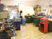 Metall Werkstatt, Drehmaschine,