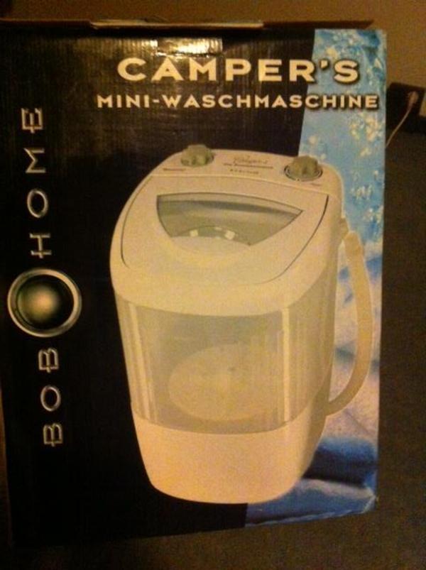 mini waschmaschine 39 camper s bob home 39 ungebraucht in. Black Bedroom Furniture Sets. Home Design Ideas