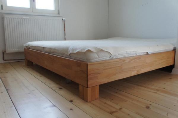 modernes bett 160x200 cm kernbuche in lustenau betten kaufen und verkaufen ber private. Black Bedroom Furniture Sets. Home Design Ideas