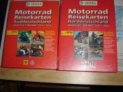 Motorradreisekarten Nord / Süd