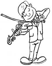 Musikstudentin gibt Geigenunterricht