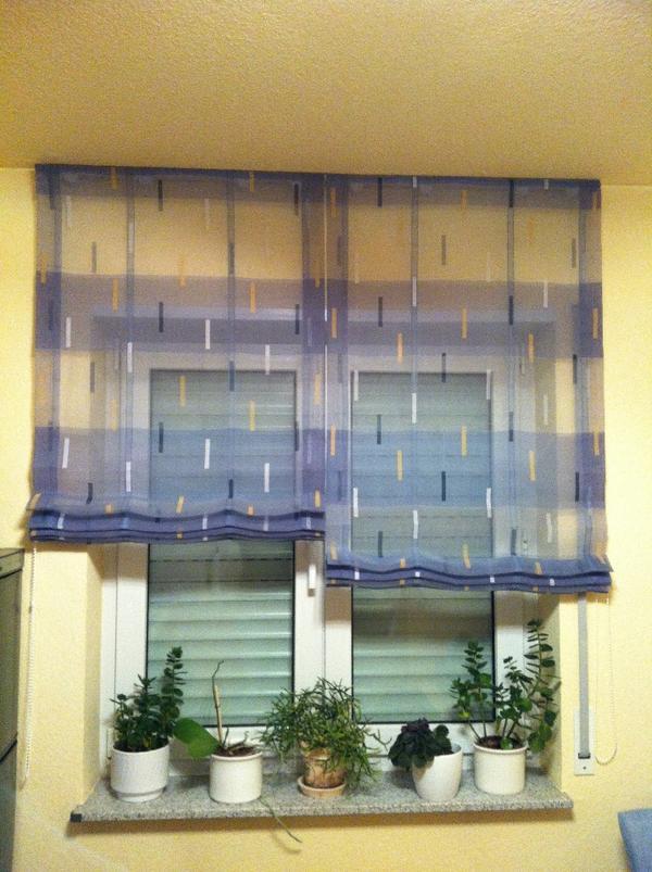 neuw marken raffrollo 2 teilig blau halbtransparent in hirschberg gardinen jalousien kaufen. Black Bedroom Furniture Sets. Home Design Ideas