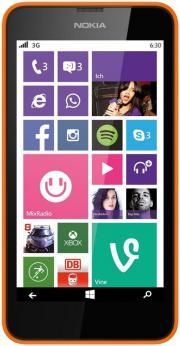 Nokia Lumia 630 Single-SIM Smartphone (4,5 Zoll), 8 GB Speicher, Windows 8.1) orange gebraucht kaufen  Feldkirch