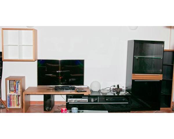 now no 7 by h lsta tv bank und vitrine schrank in. Black Bedroom Furniture Sets. Home Design Ideas