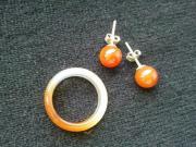 Ohrstecker und Ring