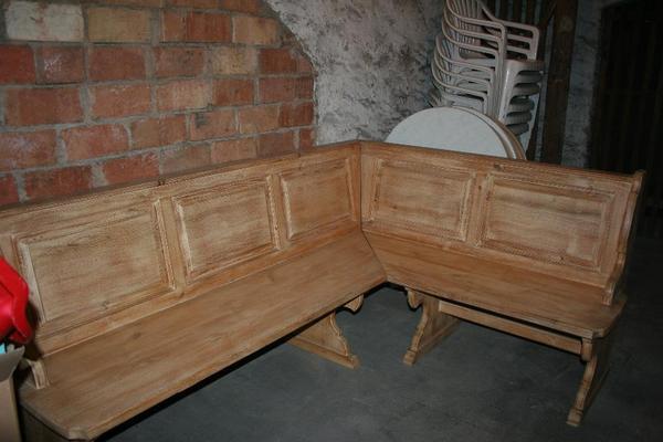 orginal maison landhaus eckbank pinie in karlsruhe speisezimmer essecken kaufen und. Black Bedroom Furniture Sets. Home Design Ideas