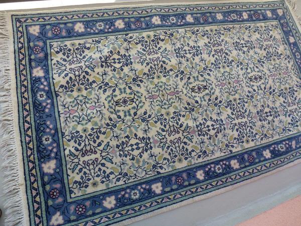 orientalischer teppich blau gemustert 158 x 94 cm in m nchen teppiche kaufen und verkaufen. Black Bedroom Furniture Sets. Home Design Ideas