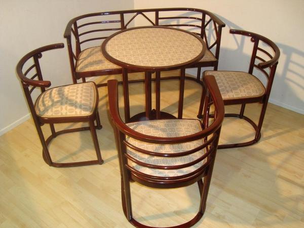 original josef hoffmann sitzgarnitur um 1905 von thonet konkurent j j kohn in leipzig polster. Black Bedroom Furniture Sets. Home Design Ideas