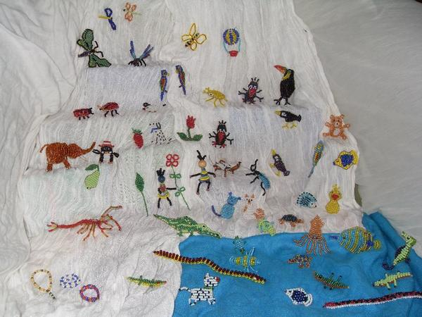 Perlentiere geschenk deko glasperlen handgemacht for Ebay kleinanzeigen karlsruhe