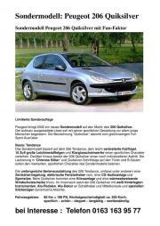 Peugeot 206 Sondermodell