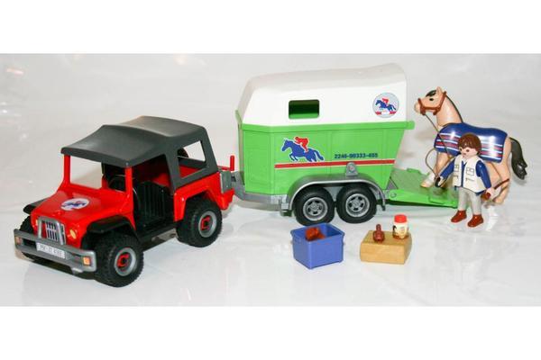 playmobil gel ndewagen mit pferdeanh nger 4189 neuwertig. Black Bedroom Furniture Sets. Home Design Ideas