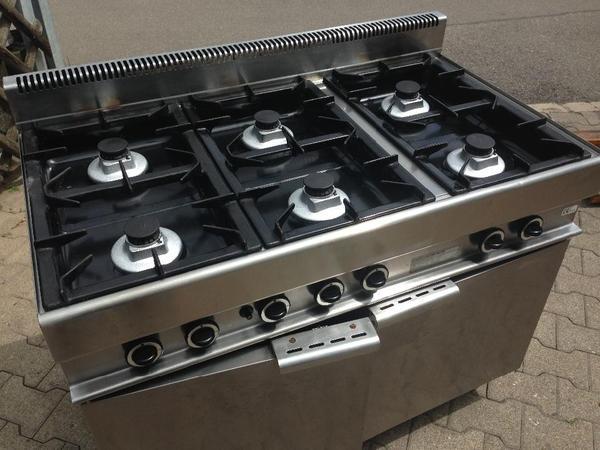 profi gastronomie gasherd gasofen 6 flammen modular. Black Bedroom Furniture Sets. Home Design Ideas