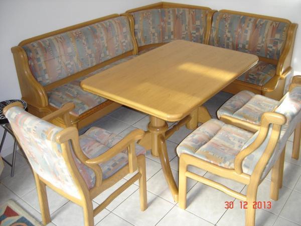 Qualit ts eckbankgruppe massivholz k chenm bel sitzbank in for Massivholz kuchenmobel