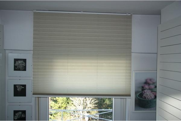 gardinen jalousien reflexa plissee balkont ren jalousie h beige b 95 h 250 gereinigt wie neu. Black Bedroom Furniture Sets. Home Design Ideas