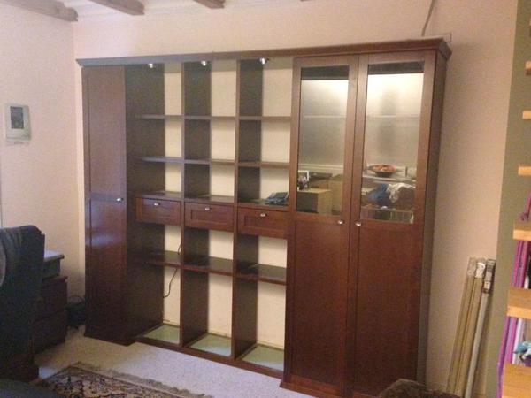 regal wohnwand kirschholzfurnier der fa bringmann sehr. Black Bedroom Furniture Sets. Home Design Ideas