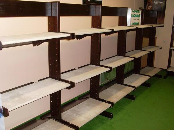 regalsystem wei braun einlegeb den f r 300 m fl che zu verkaufen in bretten gastronomie. Black Bedroom Furniture Sets. Home Design Ideas